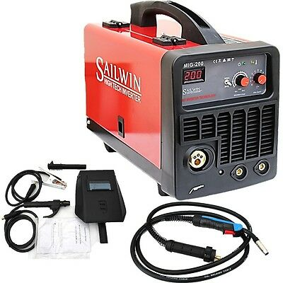 200Amp Mig(Mag)/mma(Arc) Dc Inverter Welder Soft Start, Led Display +Accessories