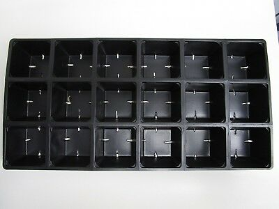 Set of 25 SHEETS 1801 Tray Inserts Packs New Plastic (180 cells; fills 10 flats)