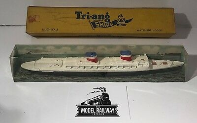 Vintage - Triang Minic Ships - M704 - Ss United States - Fully Boxed Metal Piece