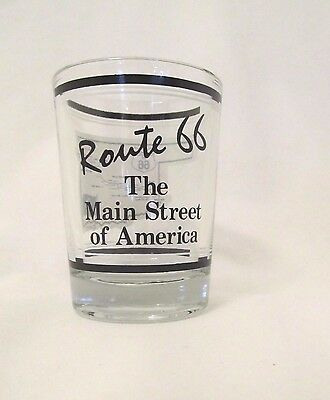 Historic Route 66 Oklahoma LARGE Shot Glass 4 oz. Main St. of America Collectibl