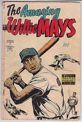 Amazing Willie Mays #1 G 2.0 Famous Funnies 1954!!