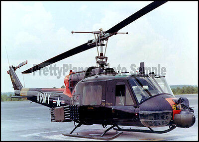 "US Army UH-1C Iroquois ""Huey"" Parked 5x7 Aircraft Photos"