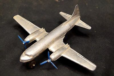 Antique 1930s 40s Tootsietoy Metal  Duel Prop Airplane Aircraft Toy