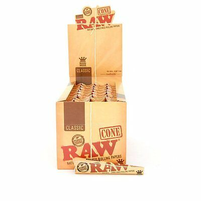 Authentic Raw Rolling Paper Pre-Rolled Classic Cones King Size - 5 Pks-15 Cones