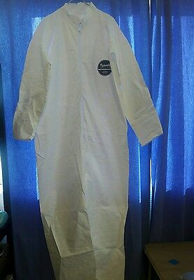 XL White Tyvek Protective Coveralls Painters Suit -Disposable