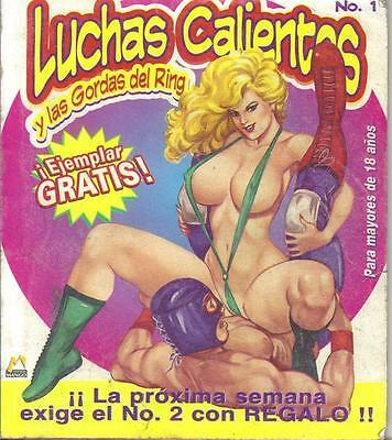 """LUCHAS CALIENTES """"WRESTLING"""" ADULT mexican comic SEXY GIRLS SPICY #1"""
