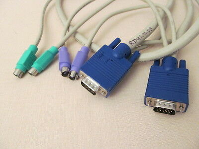 Heavy Duty 4 ft PC KVM PS/2 VGA Video Connection Cable In Good Condition