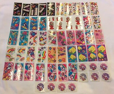 Vintage Lisa Frank Sticker Lot Of 57 Mini Sheets 1990's