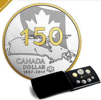 Special Edition 99,99% Pure Silver Proof Set CANADA 150 Our Home and Native Land