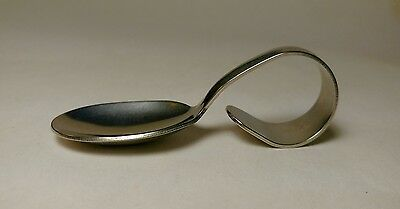 Vintage New Curved Curled Handle Spoon Steinmetz Bakery Baby Stainless