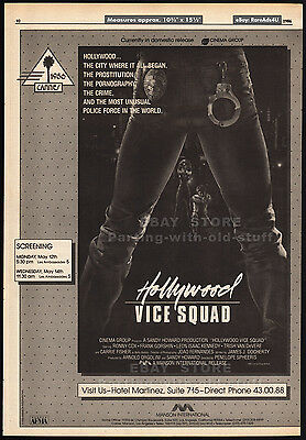 HOLLYWOOD VICE SQUAD__Original 1986 Trade AD / poster__CARRIE FISHER__RONNY COX