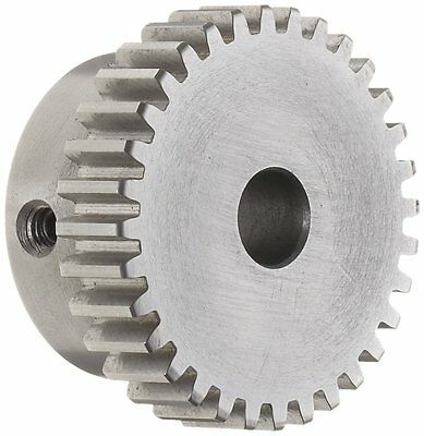 """Boston Gear NA64A Spur Gear, 14.5 Pressure Angle, Steel, Inch, 20 Pitch, 0.375"""""""
