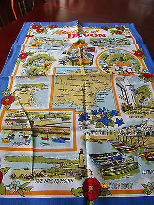 100% Cotton Tea Towel - Memories Of Devon
