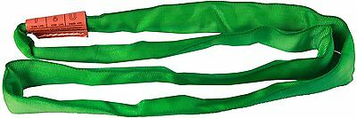 """AMH DR Polyester Round Sling, Endless, Green, 8 Length, 1-3/4"""" Width, 5300 lbs"""