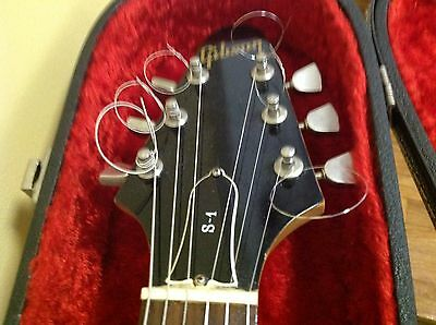 1974/1975 Black & Wood-Grain Gibson S-1 S1 Vintage Guitar w/ Gibson Case