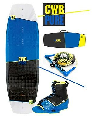 CWB Pure 141 Wakeboard with Venza Boots Size 9-12 NEW includes rope and Bag
