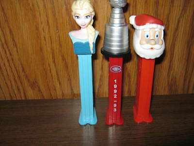 3 Different Pez - Stanley Cup Montreal Canadians 1992-93, Santa Claus & Snow Whi