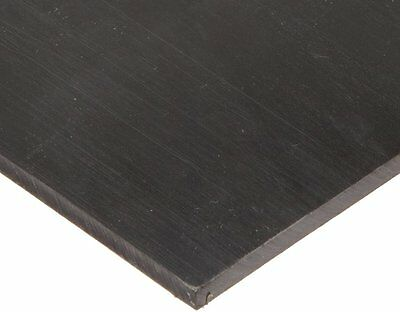 """Polyurethane Sheet, Adhesive, 90A, Smooth, ASTM D-470, Black, 1/2"""" Thick, 2"""" 48"""""""