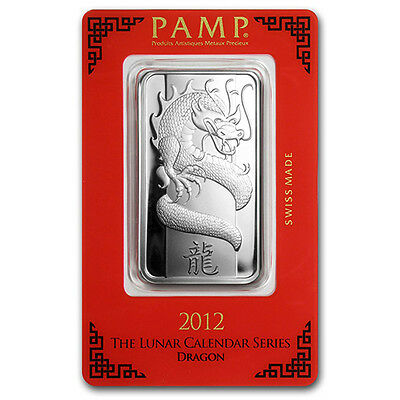 PAMP Suisse Silver Bullion 1oz Lunar Year of the Dragon