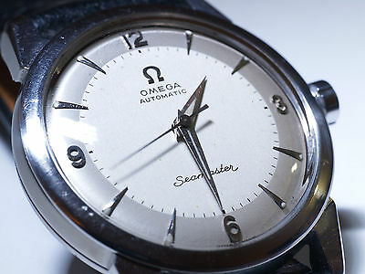 Men,s Vintage Swiss OMEGA 501 Seamster 20 Jewels Stainless Steel Automatic Watch