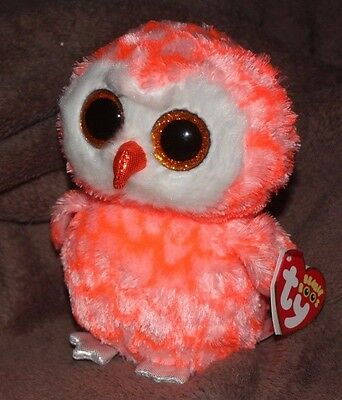 """Ty Beanie Boos - CORA the 6"""" Owl ~ Justice Exclusive - 2016 NEW w/ MINT TAGS"""