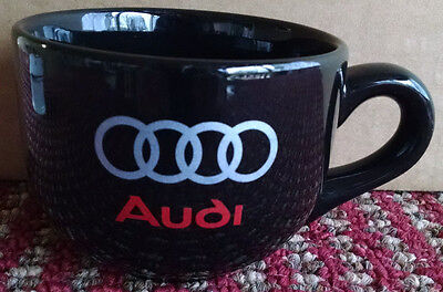 Audi Large Black 16 oz. Coffee Mug