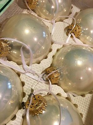 Lot 24 Christmas Krebs Glass Round Ball Ornament Glazed Bisque