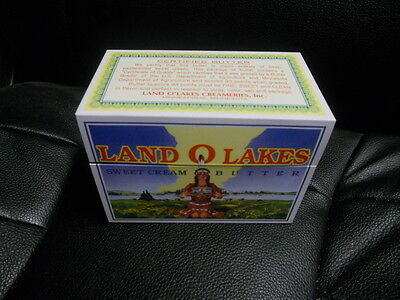 Vintage like Land O Lakes Butter Tin Recipe Box with Recipes new