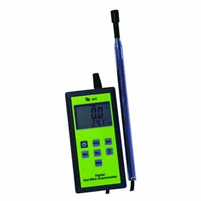 TPI 565C1 Digital Anemometer with Hot-Wire Probe, 0.2 to 20 m/s Velocity, -20 to