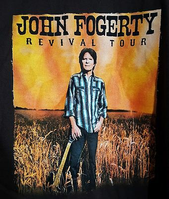 John Fogerty Revival Tour Brown Shirt Top Adult Large Used