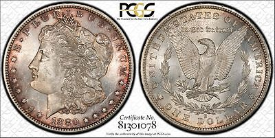 PCGS Graded MS62 1880-S Morgan Dollar $1 USA UNC Coin