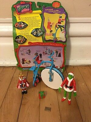 Dr. Suess How The Grinch Stole Christmas Playset Santa Grinch & Cindy Lou Who