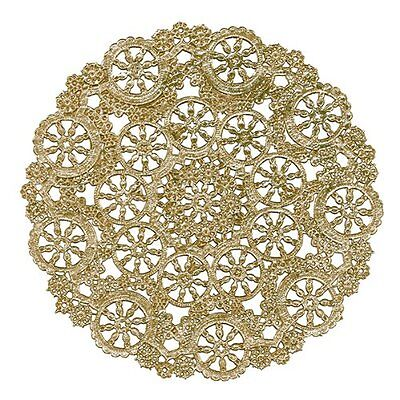 "25 - 8"" GOLD Metallic Foil MEDALLION Paper Lace DOILIES 