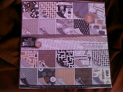 Docrafts papermania - Mr Mister - 12x 12 double sided paper pack - 24pk