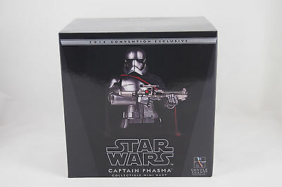 SDCC 2016 Gentle Giant Star Wars CAPTAIN PHASMA Mini-Bust, #821 / 1200, NEW