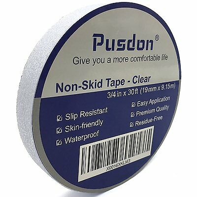 Pusdon Anti Slip Tape, Safety-Walk Tub and Shower Treads, Clear, 3/4-Inch x 30Ft