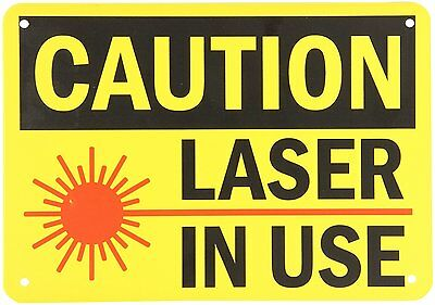 """SmartSign Plastic OSHA Safety Sign, Legend """"Caution: Laser in Use"""", 7"""" high x on"""