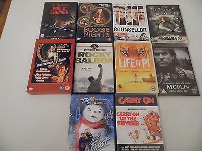 10 off Action , Drama and comedy DVD's . Incl. The counsellor,public enemies.