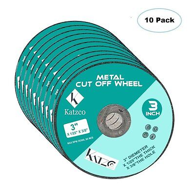 Cut Off Wheels- For Cutting Metal and Steel -3 Inch 60 Grit, To Use With Angle -