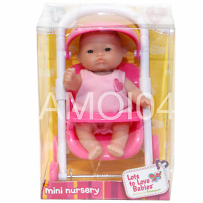 Berenguer Baby Doll Mini Nursery in Stroller Lots to Love Babies - Ages 2+ *New