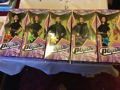 Complete Set Of 5 Popstars Hear Say Dolls - Boxed And RARE