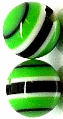 Pair Spare Replacement Ball Balls Multi-colored Bead Ball for Barbell Labret Bar