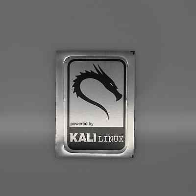 Powered by Backtrack Kali Linux Metal Decal Sticker Case Computer Laptop Badge