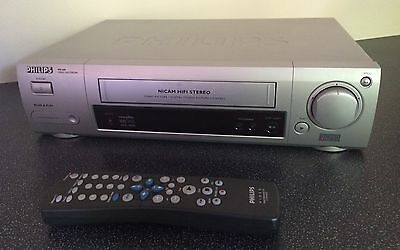 Philips VR608 VCR VHS Video Recorder / Player * TOP END* 6 Head Nicam Front AV