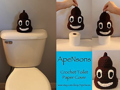 Crochet Poop Emoji Toilet Paper Cover Decoration