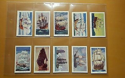 Famous Ships.set Of 50 Cigarette Cards R & J Hill In 1940 Varnished