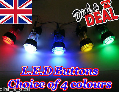 illuminated chrome surround Arcade machine Led buttons choice of colours