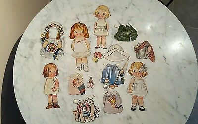 Original Dolly Dingle Paper Dolls Grace Drayton Campbell  Kids Cut Out W Clothes