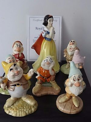 Royal Doulton Disney's Snow White And The Seven Dwarfs Limited Edition 2000 Mib