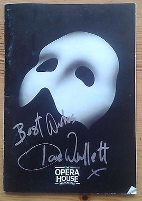 Dave Willetts signed Phantom of the Opera programme Manchester Opera House 1993